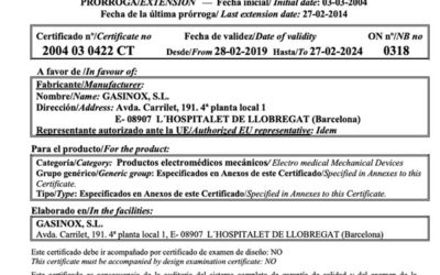 CE certification renewal of medical device