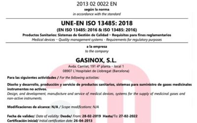 Renewal of ISO13485 certification of medical device
