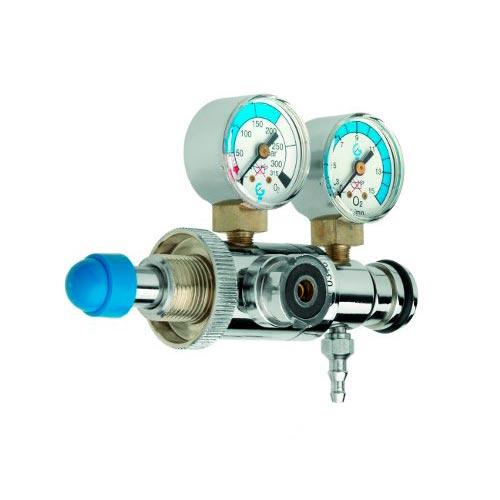 G106 - Regulador con caudalímetro manometro y salida con toma extra